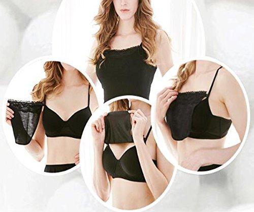 HZYFP 5pcs Oversize Lady Lace Clip-on Mock Camisole Bra Insert Overlay Modesty Panel Vest