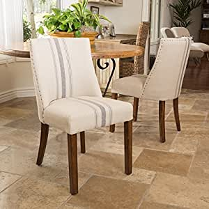 Amazon Com Christopher Knight Home Harman Dining Chair