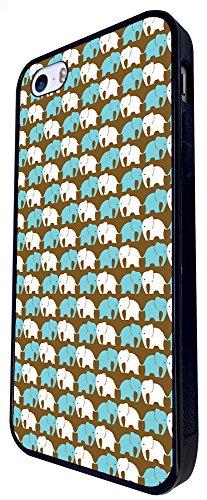 1128 - Cute Cool Fun Elephant Art Collage Animals Nature Love Shabby Chic Design iphone SE - 2016 Coque Fashion Trend Case Coque Protection Cover plastique et métal - Noir