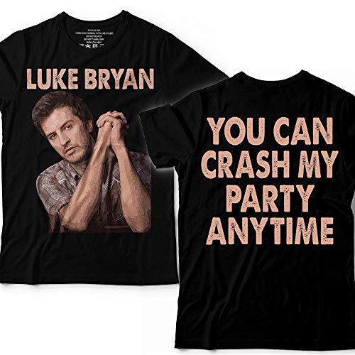 Luke-Bryan You Can Crash My Party Anytime Country Music Customized T-Shirt Hoodie/Long Sleeve/Tank Top/Sweatshirt ()