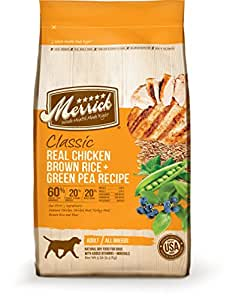 Merrick Classic Real Chicken, Brown Rice & Green Pea - 15 lbs