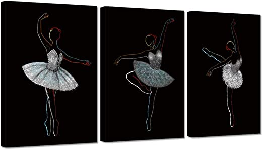 DANCING BALLERINA BALLET DANCER PERFORMING BOX CANVAS PRINT WALL ART PICTURE