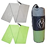 ZOOMUP 2PACK Large Size Sports Microfiber Towel (40