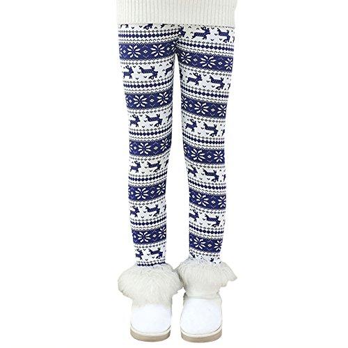 BOBORA Little Kids Girls Fleece Thick Legging Baby Winter Warm Pants