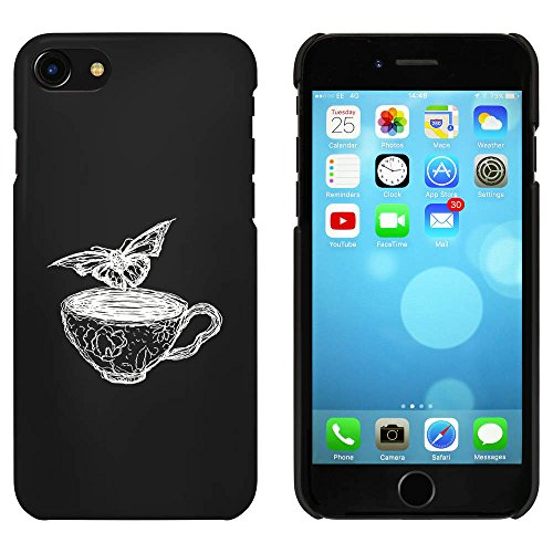 Noir 'Papillon avec Tasse' étui / housse pour iPhone 7 (MC00069809)