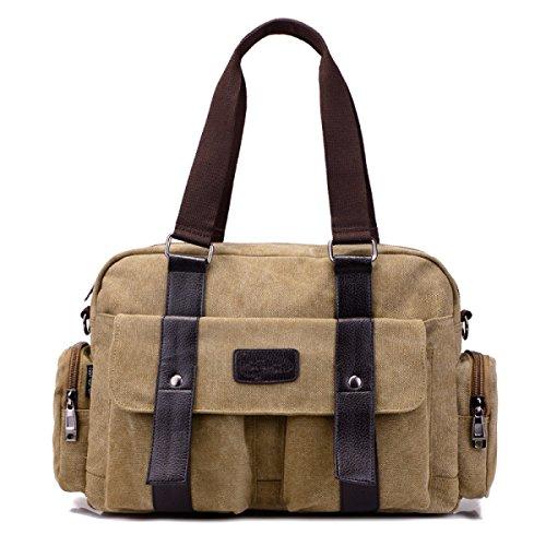 Männer Und Frauen Jahrgang Leinwand Messenger Aktentasche Schulter Tote Side Multifunktional Tasche,B-39cm*12cm*27cm