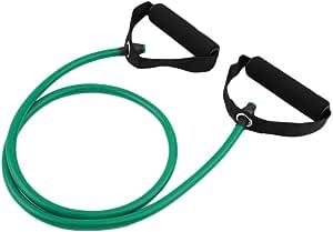 حبل للتمرين البدني والتمارين الرياضية وشد حبل شد قطعة واحدة لون أخضر