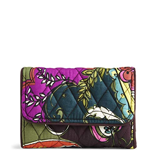 Vera Bradley Women's RFID Riley Compact Wallet, autumn leaves One Size