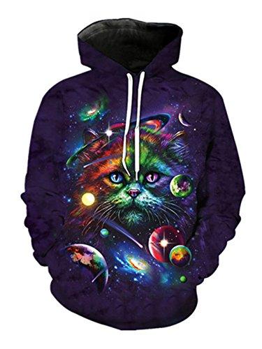 Cappuccio 8 Cat Donna Yichun Galaxy Felpa Con p7wnq11vR