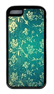 linfengliniPhone 5c case, Cute Vintage Floral Wall iPhone 5c Cover, iPhone 5c Cases, Soft Black iPhone 5c Covers