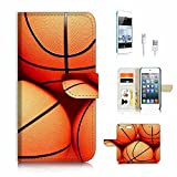 wire basket ball - ( For ipod 6, itouch 6, touch 6 ) Flip Wallet Case Cover & Screen Protector & Charging Cable Bundle! A3946 Basketball