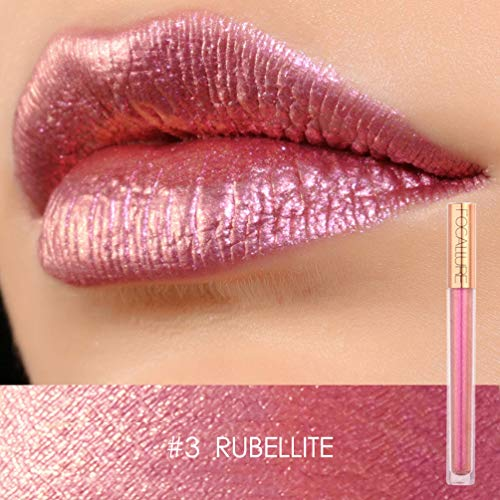 Focallure Cream Lipstick Metallic Sparkly Makeup Stay On Glossier Lip Gloss Long Lasting Colorful Liquid Waterproof Lipgloss