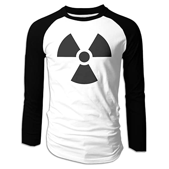 Ncvv Ionizing Radiation Symbol Mens Raglan T Shirt Long Sleeve