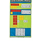 Bargain World Nylon Ten Frame Math Pocket Chart (With Sticky Notes)