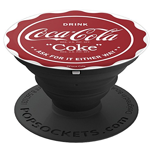 Coca-Cola Drink Coke Ask For It Either Way Bottle Cap - PopSockets Grip and Stand for Phones and Tablets