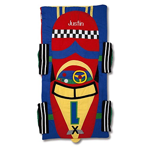 Lillian Vernon Racecar Kids Personalized Sleeping Bag]()