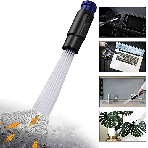 dust cleaner, Dust Brush Cleaner Vacuum Attachment by Akaru, As Seen On TV Universal Dirt Remover Vacuum for Car,Corners, Pets,Keyboards, Drawers,Home,Furnitures