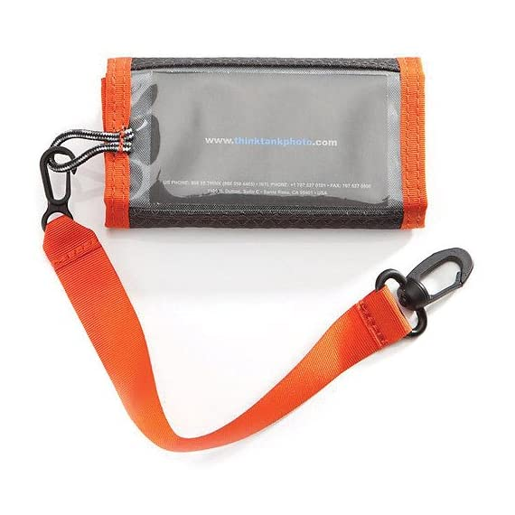 Think Tank Photo SD Pixel Pocket Rocket Memory Card Case (Orange) 2 Fits 9 SD memory cards Compact and fits easily in your pocket Built in business card holder makes for easy identification