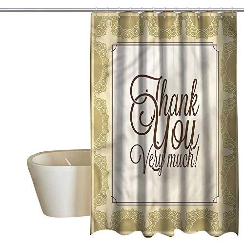 (Shower Curtains Long Romantic,Victorian Design Swirls,W48 x L84,Shower Curtain for clawfoot tub )