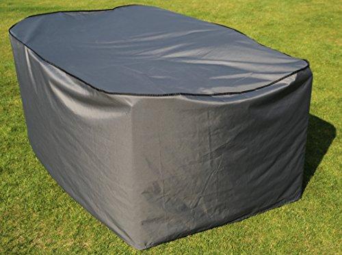 Schutzhülle / Cover für rechteckigen Tisch | Grau | 170 x 100 x 70 cm (L x B x H) | Waterproof | SORARA | Polyester & PU Coating (UV 50+)| Premium | Abdeckhaube / Wettershutz | Regenfest | für Outdoor Garten Möbel