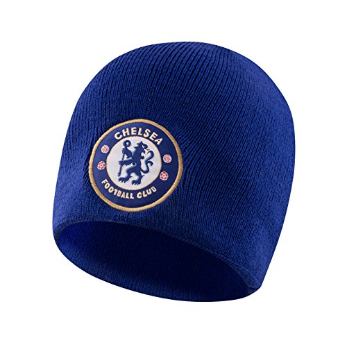 Chelsea Football Club Official Soccer Gift Kids Knitted Beanie Hat Royal Blue ()