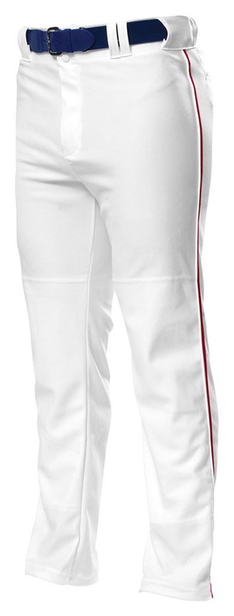A4 野球用パンツ プロ仕様 前開き型 B00IOPG9FIホワイト/レッド XL