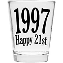 Shot Glass - 1997 Happy 21st Birthday Gift - Celebrate Turning Twenty One (1997)