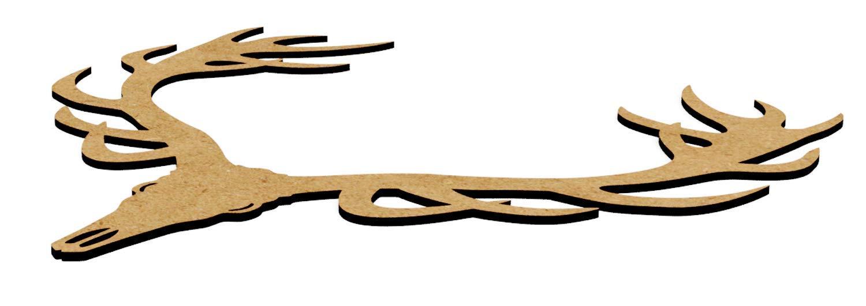 /álbumes de recortes y plantillas tama/ño: S M y L Medium: 20 cm MDF Cabeza de ciervo de tablero DM con autoadhesivo Amplia variedad de usos de decoraci/ón del hogar en habitaciones de ni/ños