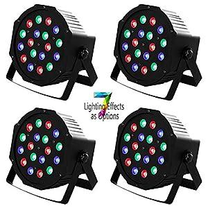 Flashandfocus.com 51bcJtVEkGL._SS300_ SUNCOO 4/8/12 Packs 18 LEDs Par Light DMX Uplights LED Stage Lighting RGB Lighting 7 Modes DMX Lighting Controlled Sound…