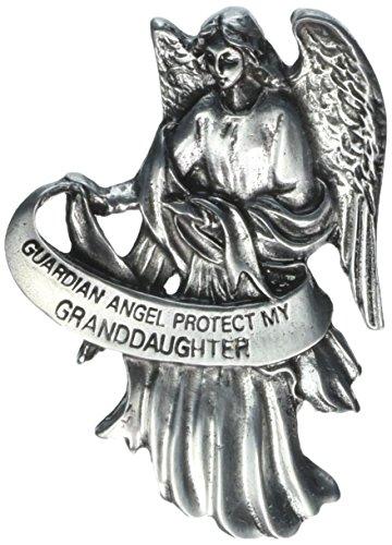 Pewter Angel Guardian Visor - Visor Clip of Guardian Angel 2 1/2