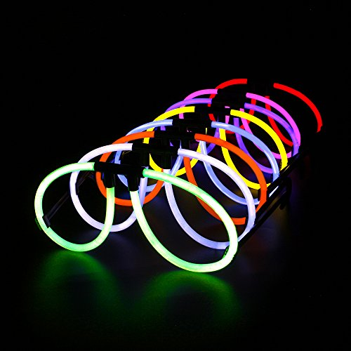 Novelinks 50 Glow Eyeglasses with 100 Pcs 8'' Glow Sticks Pack - Light up Toys Glowsticks Bracelets Assorted Colors in The Dark Light -