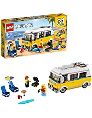 LEGO 31079 Creator Sunshine Surfer Van, Beachy Buggy, Lifeguard Tower Roof 3 in 1 Model, Car Toy for Kids