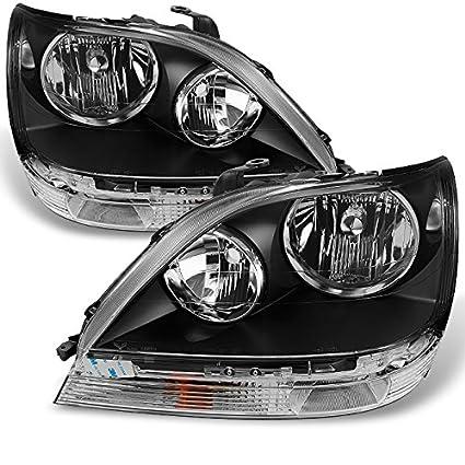 For Lexus RX300 RX-300 Headlights JDM Black OE Replacement Driver/Passenger  Halogen Type Headlamps