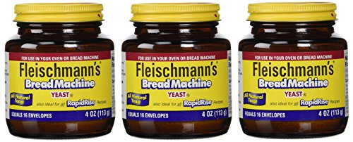 Price comparison product image Fleischmann's Yeast for Bread Machines,  4-Ounce Jars (Pack of 3)