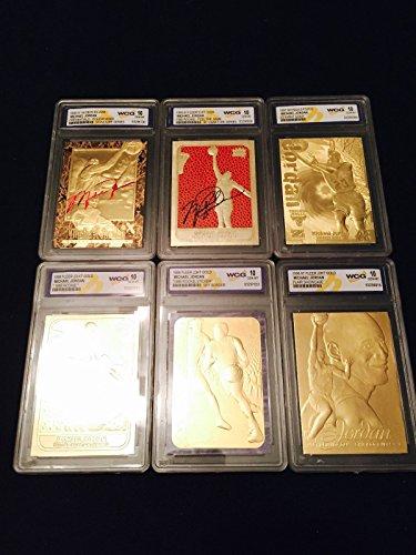 Michael Jordan Autographed GEMMT 10 1997 Fleer 1986 Rookie 23KT Gold 6 Card LOT!