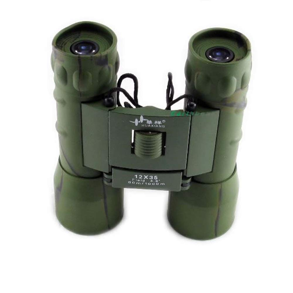 ZGQA-GQA 12x35 HD Binoculars Ight Vision Camouflage BAK9 FMC Waterpoof Fishing Camping/Climbing/Cave Caving/Bird Watching for Adult by ZGQA-GQA