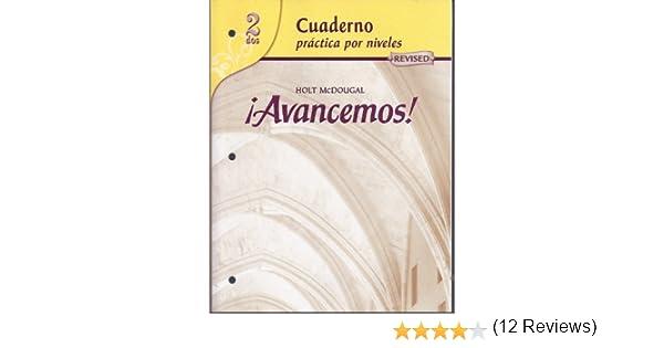 Avancemos cuaderno practica por niveles 2 revised spanish avancemos cuaderno practica por niveles 2 revised spanish edition mcdougal littel 9780618765942 amazon books fandeluxe Choice Image