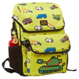 Children's Trucks Backpack with Lunch Bag 4 to 8 Year Olds British Design (Tank)