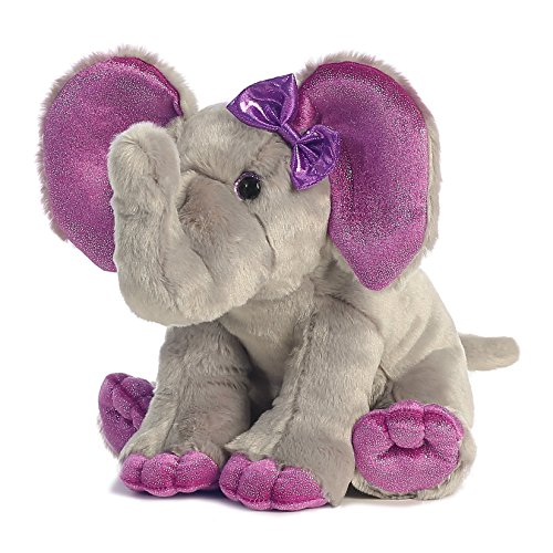 Aurora World Girlz Nation Elephant (Purple Elephant Stuffed Animal)
