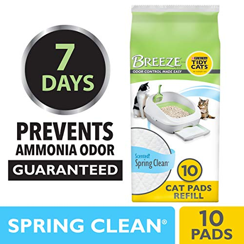 Purina Tidy Cats Cat Pads; BREEZE Spring Clean Fragranced Refill Pack - (6) 10 ct. Pouches]()