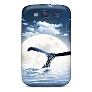 UPjcNTS8499sKhcZ Case Cover Moon Whale Galaxy S3 Protective Case