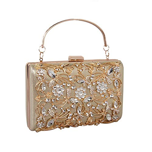 Sparkle Clutch Purse Hollow Out Floral Evening Bag Wedding Evening Praty Purse