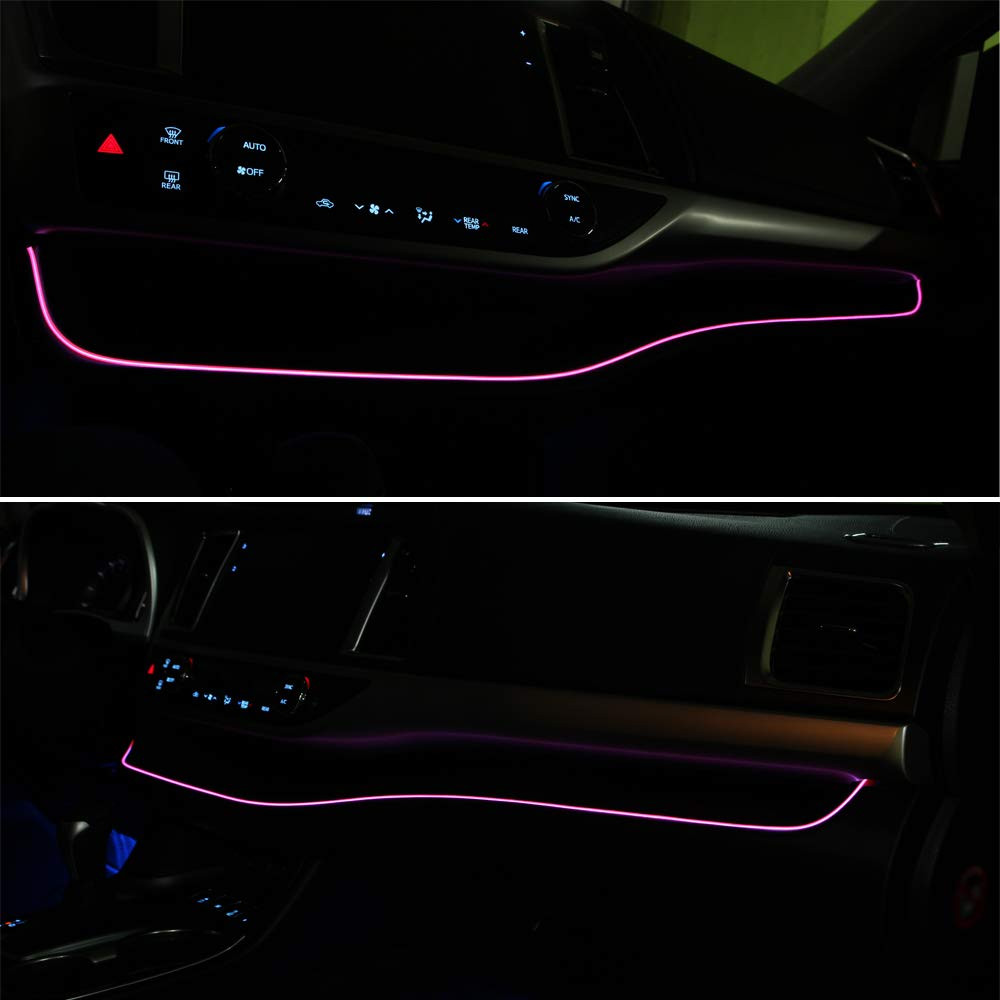 Neon Panel Gap String Strip Light Interior Decor Atmosphere Strip Lamp PVC Glowing Wire Lamp for Toyota Highlander 2014 2015 2016 2017 2018 2019 Ice Blue Senzeal 1M//39Inch Car LED Strip Light