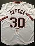 Autographed/Signed Orlando Cepeda San Francisco Giants White Baseball Jersey JSA COA