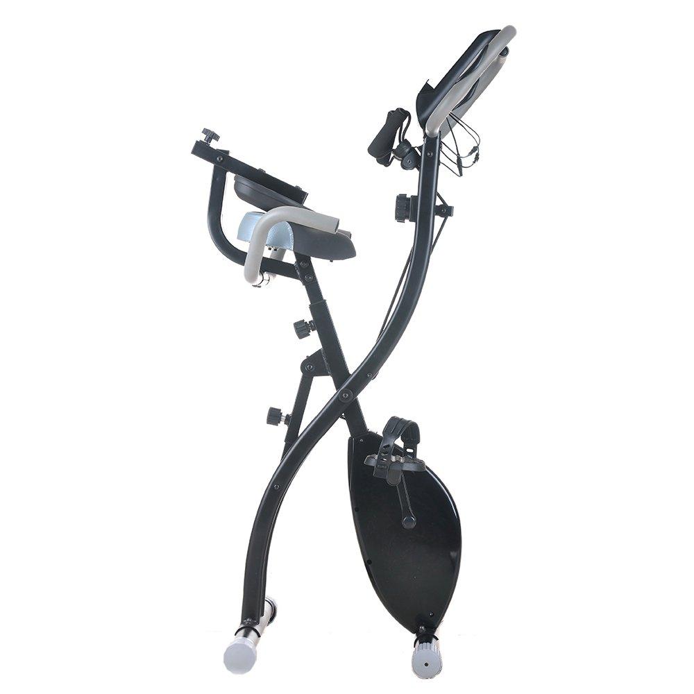 Bicicleta estática lovinald hogar magnético plegable vertical Bike ...