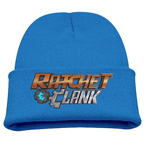 Babala Ratchet & Clank Child Knitted Beanie Cap Hat Winter Hats Solid Color Beanie RoyalBlue