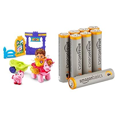 VTech Go! Go! Smart Friends Magical Journey Unicorn with Basics AAA Batteries Bundle: Toys & Games