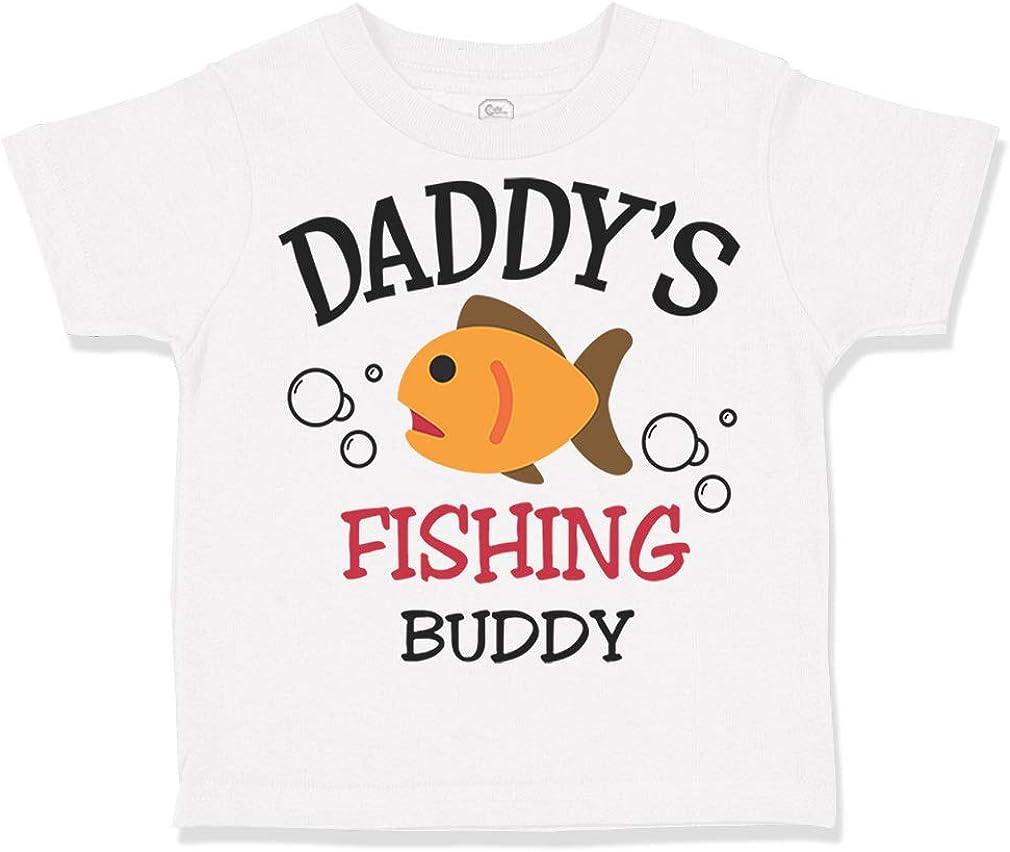 Custom Toddler T-Shirt Daddys Fishing Buddy 1 Fish Fisherman Boy /& Girl Clothes