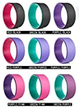 TOOTOO Yoga Wheel,Yoga equipment auxiliary wheel,Help and improve sports posture,9 colors (GREEN/PURPLE)