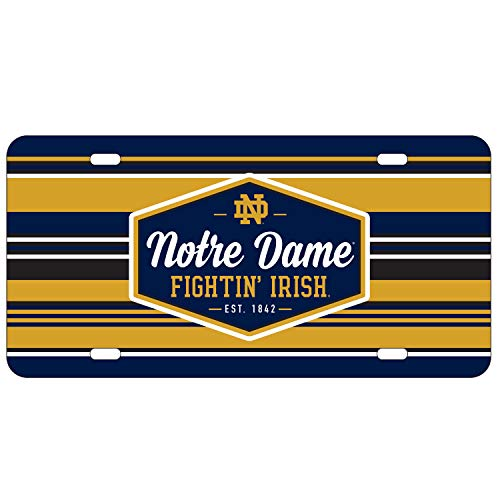 Wincraft Notre Dame Fighting Irish Official NCAA License Plate Acrylic ()